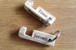 18-002 sleutelhanger telefoonhouder graveren